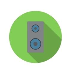 Music speaker flat icon vector image