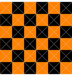 Orange black chess board diamond background vector