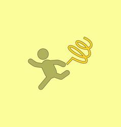 Rhythmic gymnastics with ribbon design vector