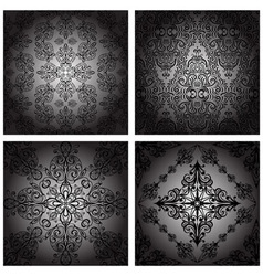 seamless vintage monochrome vector image vector image