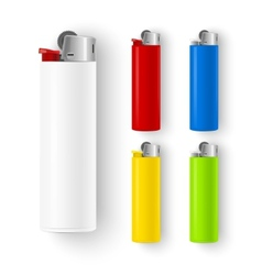 Set of lighters vector