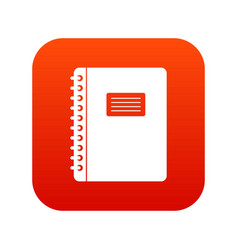 spiral notepad icon digital red vector image vector image
