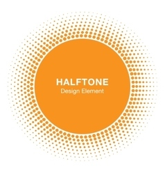 Sun Circle Halftone emblem Design Element vector image