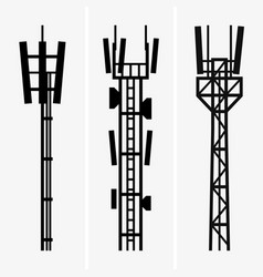 Telecommunications towers vector