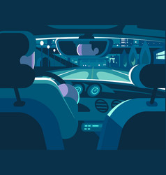 view from back seat of car vector image