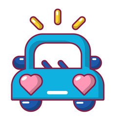 Wedding car icon cartoon style vector
