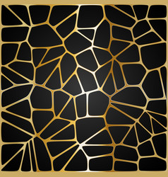 yellow geometric pattern on a black background vector image vector image