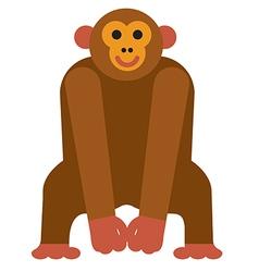 icon chimpanzee monkey vector image