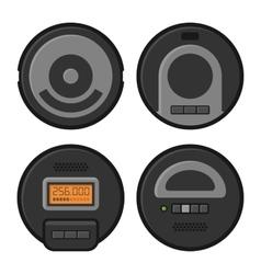 Robotic Vacuum Cleaner Icons Set vector image