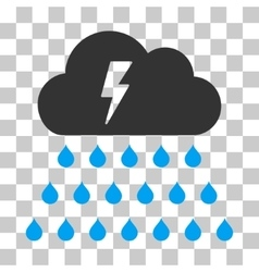 Thunderstorm rain cloud icon vector