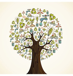 Go green icons tree vector