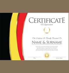 Certificate or diploma belgium flag design vector