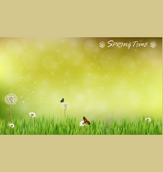 Brown blur background of spring meadow vector