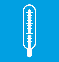 Medical thermometer icon white vector