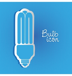 Saving bulb label on background of blue lines vector