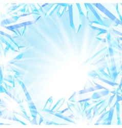 Sparkling ice crystals vector