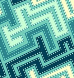 Vintage blue curve seamless pattern vector