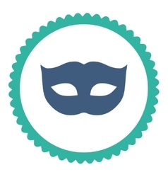 Privacy mask flat cobalt and cyan colors round vector