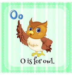 Alphabet O is for owl vector image