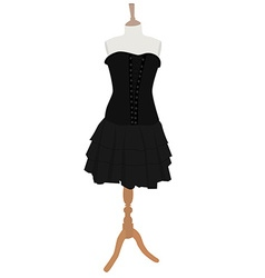 Gothic dress vector