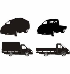Lorry silhouettes vector