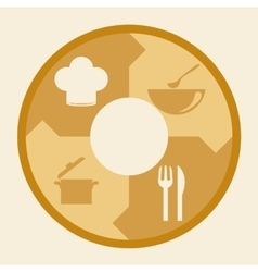 Menu and restaurant icons design vector