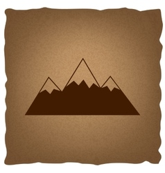 Mountain sign vintage effect vector