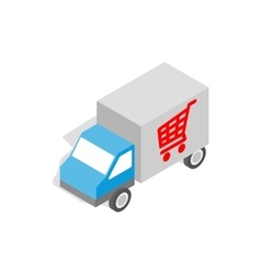 Truck for delivery icon isometric 3d style vector
