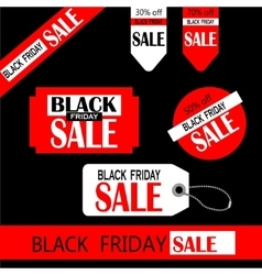 Black friday sale tag design vector