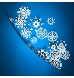 Blue christmas card with snowflakes EPS10 vector image
