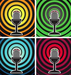 broadcasting posters vector image