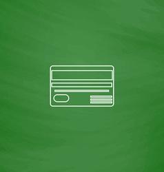 Credit card computer symbol vector