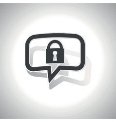 Curved locked message icon vector