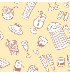 drinks seamless pattern vector image