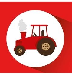 Farm countryside tractor design vector