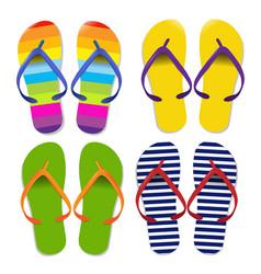 flip flops set vector image vector image