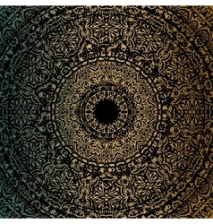 Gold mandala vector image vector image