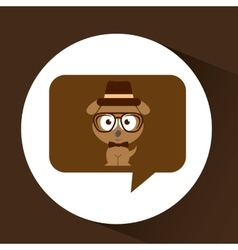 Hipster doggy vintage icon graphic vector