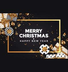 Holiday new year card - 2018 black and gold 5 vector