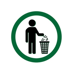 Keep clean icon do not litter sign vector