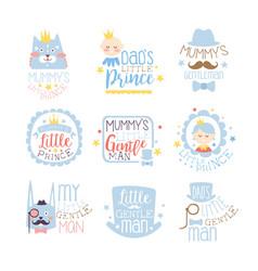 Little prince set of prints for infant boy room or vector