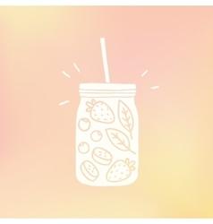 Mason jar with fruits vector