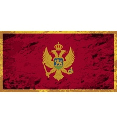 Montenegrin flag Grunge background vector image