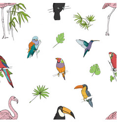 Realistic hand drawn colorful seamless pattern of vector