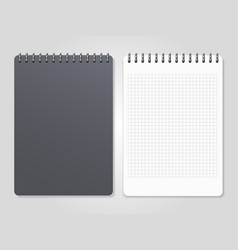 realistic notebooks with spiral - cover and lined vector image