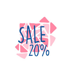 Sale 20 percent off logo template special offer vector