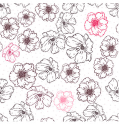 Seamless floral texture with poppies vector