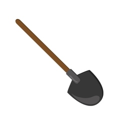single shovel icon vector image vector image