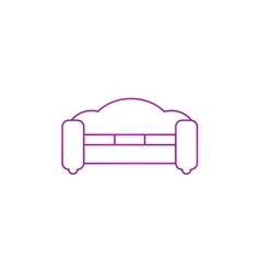 Sofa Icons Modern design flat style icon vector image vector image
