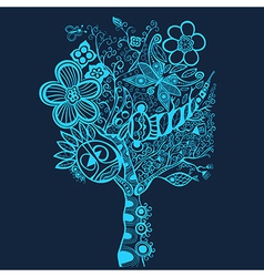 Surreal abstract tree art vector